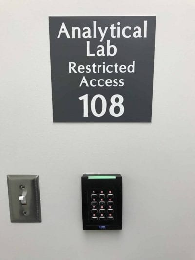 Hocking College Analytical Cannabis Lab Entrance