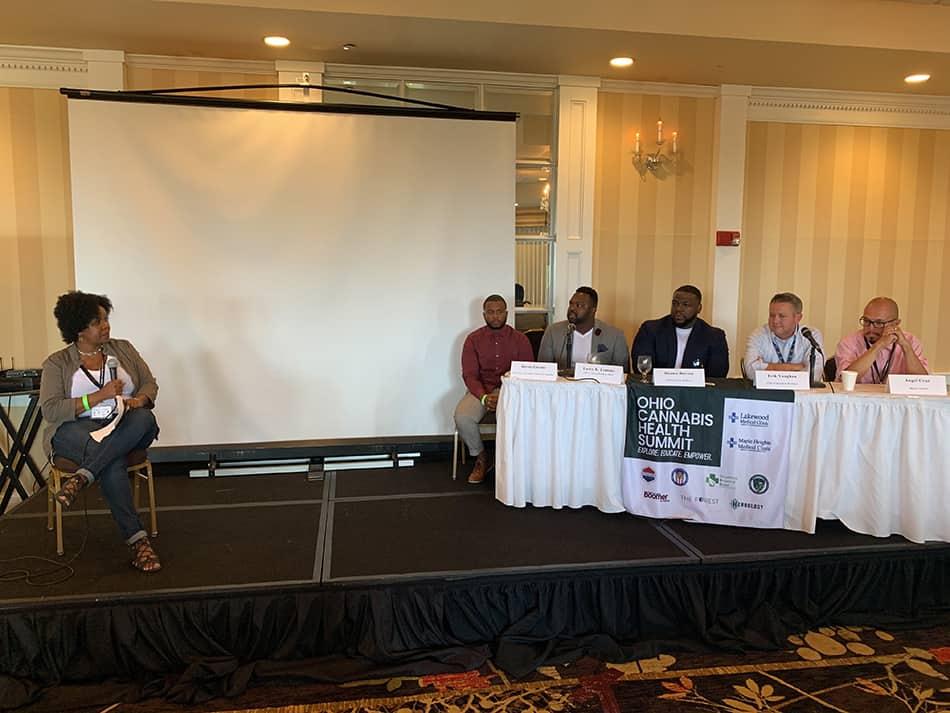 Ohio Cannabis Health Summit Keynote Panel: Donnie Burton, Kevin Greene, Larry Lemons, Erik Vaughn & Angel Cruz
