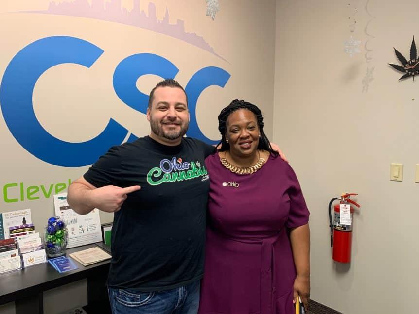 Ohio State Rep. Juanita Brent & OhioCannabis.com at Cleveland School of Cannabis