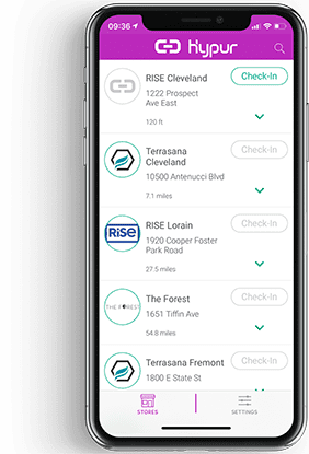 Hypur App at Rise Dispensaries Ohio